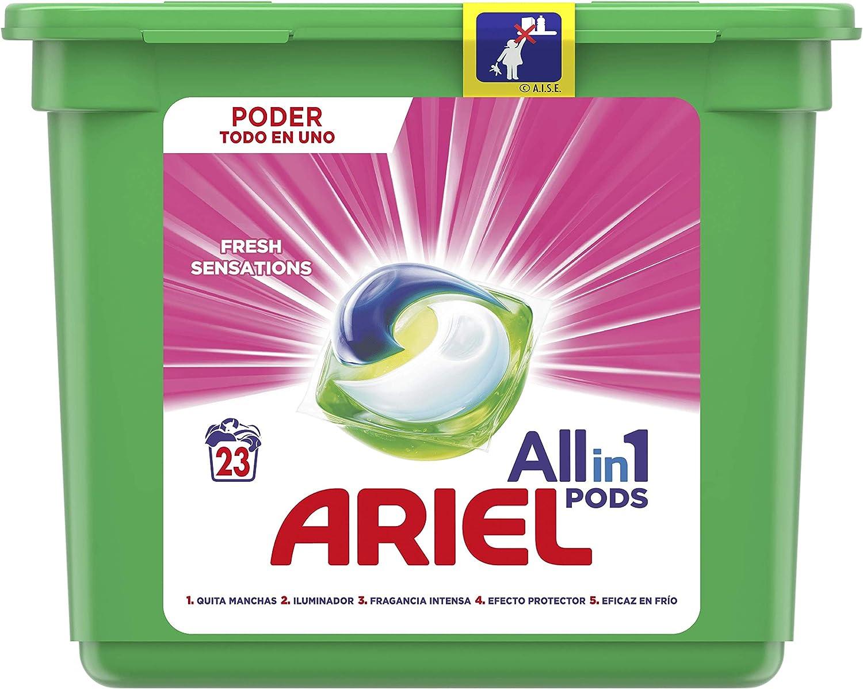 Ariel Todo en Uno Pods, Rosa Fresca Detergente en Cápsulas 23 ...