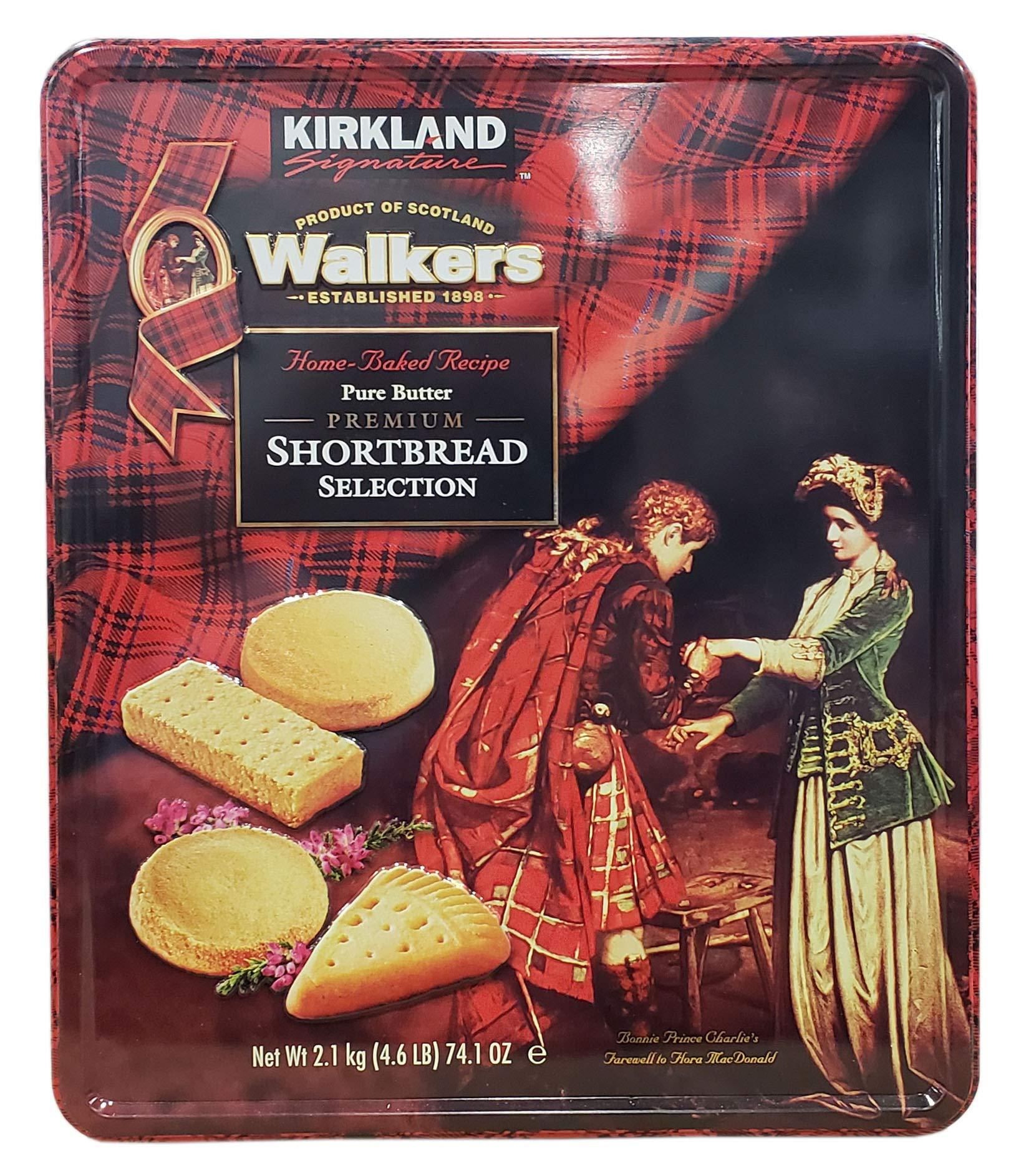 Kirkland Signature Walkers Premium Shortbread Selection Gift Tin, 4.6 Pound