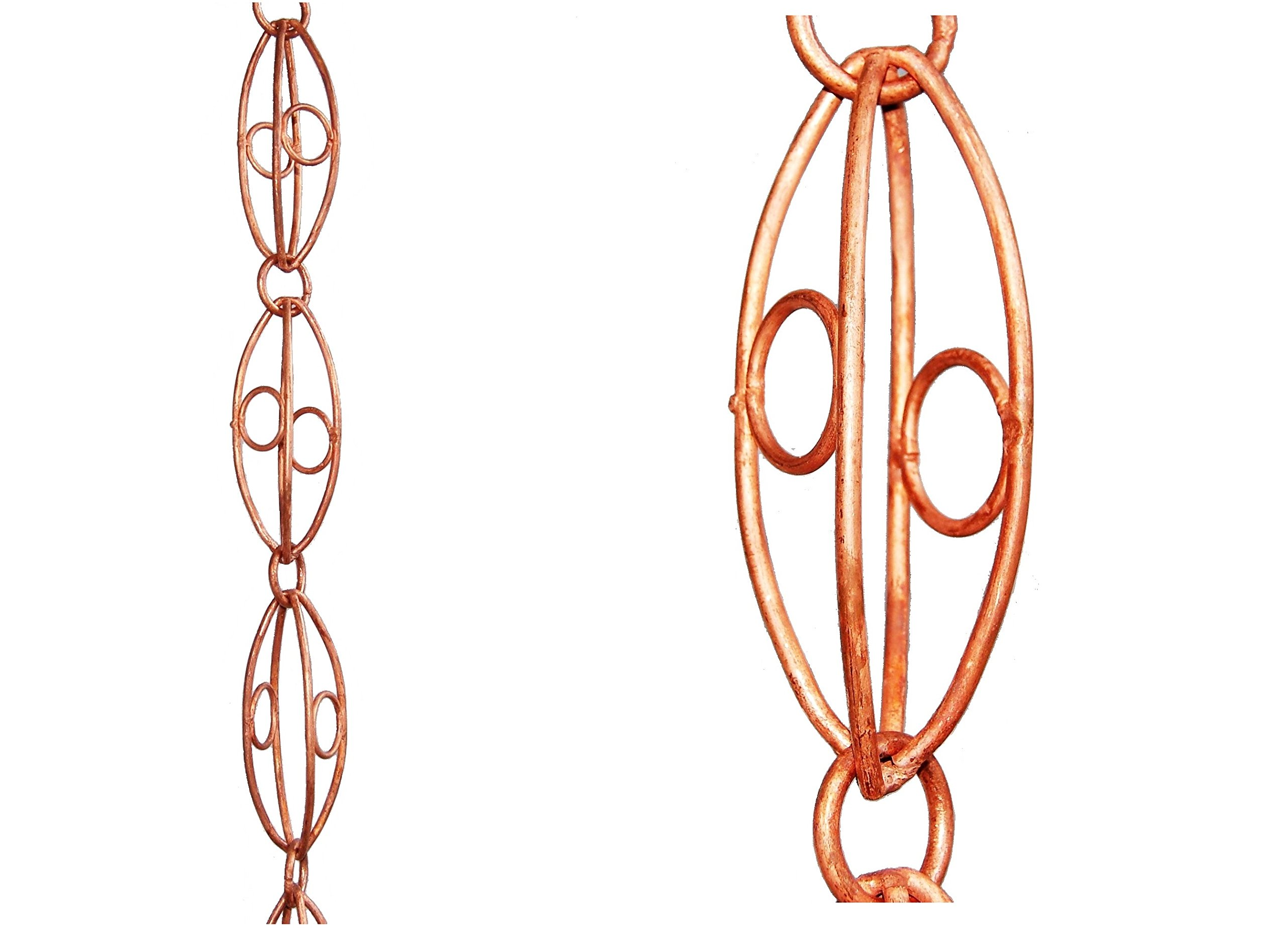 U-nitt 8-1/2 feet Pure Copper Rain Chain: Oval Link 8.5 ft Length #6001