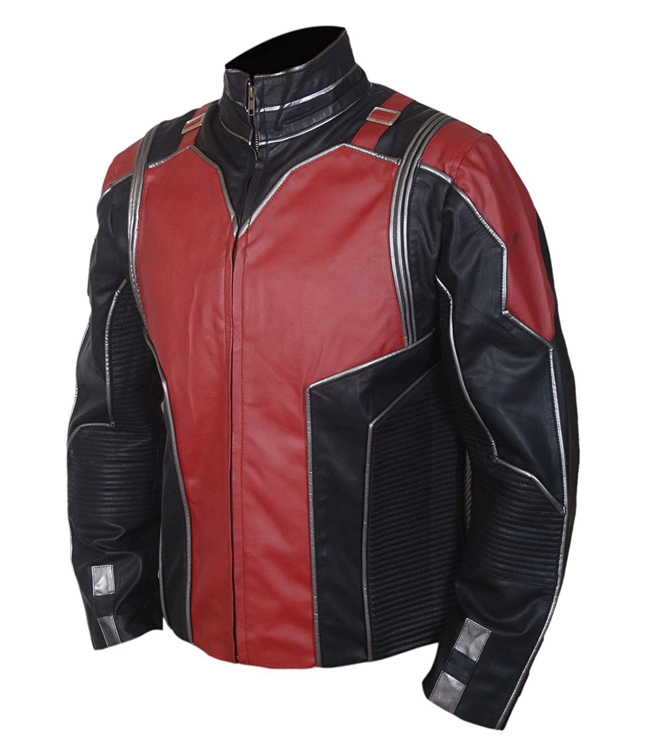 Antman (Paul Rudd) Red and Black Leather Jacket at Amazon Mens Clothing store: