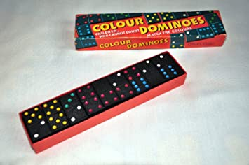 Vintage Spears Greyhound Coloured Spot Sixes 6s Dominoes Boxed Traditional Game