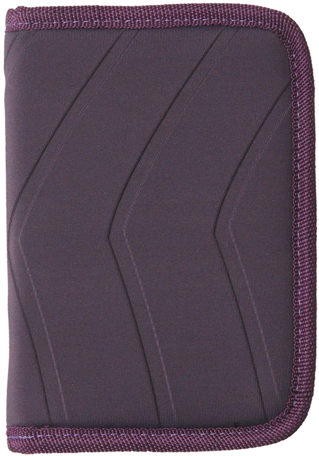 ORB Travel-WP600-P-Plum-RFID Passport Holder zippered Family wallet multi-function travel document organizer holds up to 4 passports