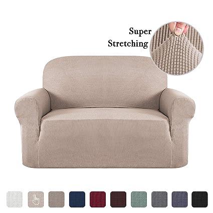 Amazon.com: Sofa Slip Cover T Cushion for Leather Stretch Sofa Cover ...