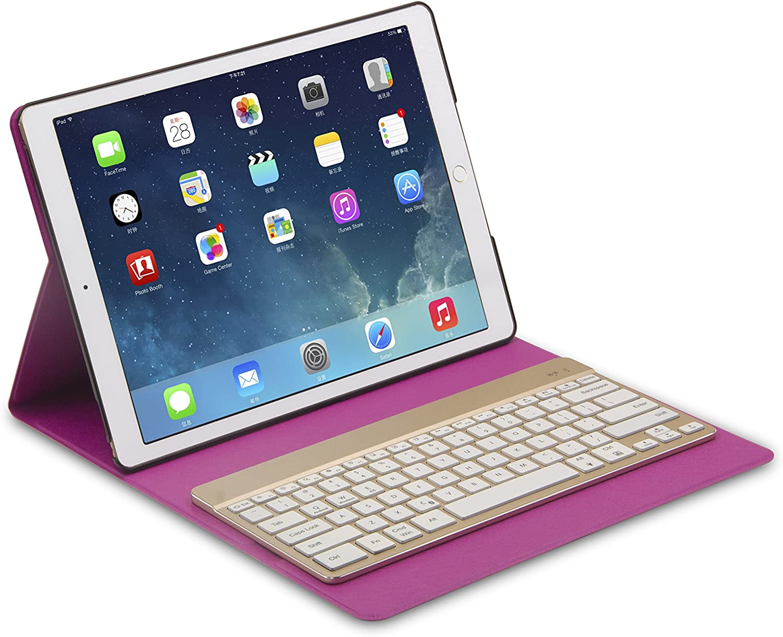 Kalart Ultra-Slim Ultra-Lightweight Wireless Bluetooh 7 Color Backlight Keyboard Black