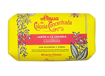 Alvarez Gomez Agua De Colonia Concentrada for Men Glycerin and Oatmeal Soap, 4.4 Ounce
