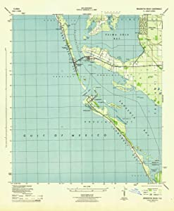 YellowMaps Bradenton Beach FL topo map, 1:31680 Scale, 7.5 X 7.5 Minute, Historical, 1944, 21.7 x 17.9 in