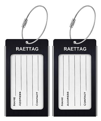 Amazon.com: Etiquetas de equipaje, LLFSD RAETTAG de metal ...