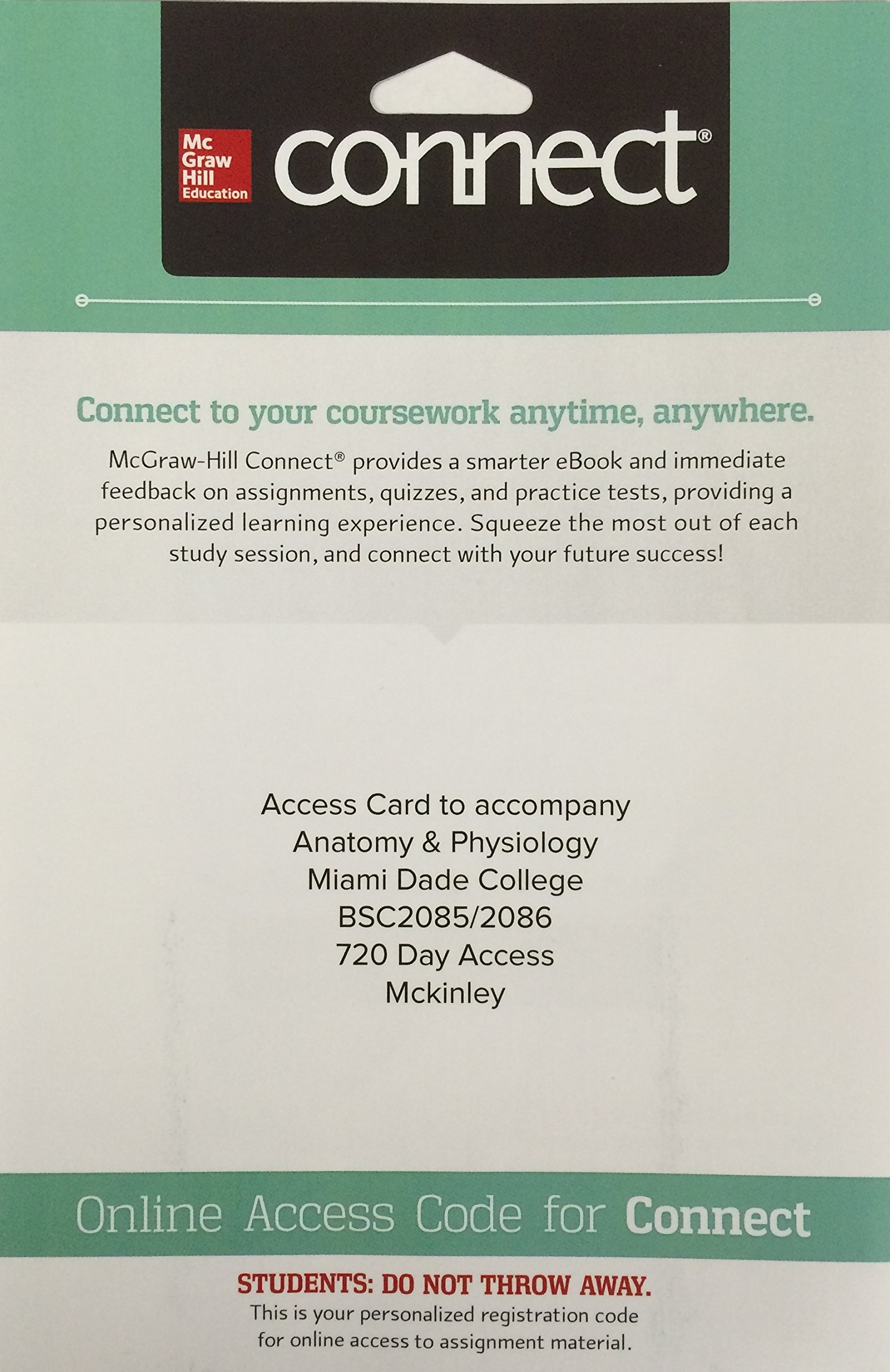 Access Card to Accompany Anatomy & Physiology Miami Dade College ...