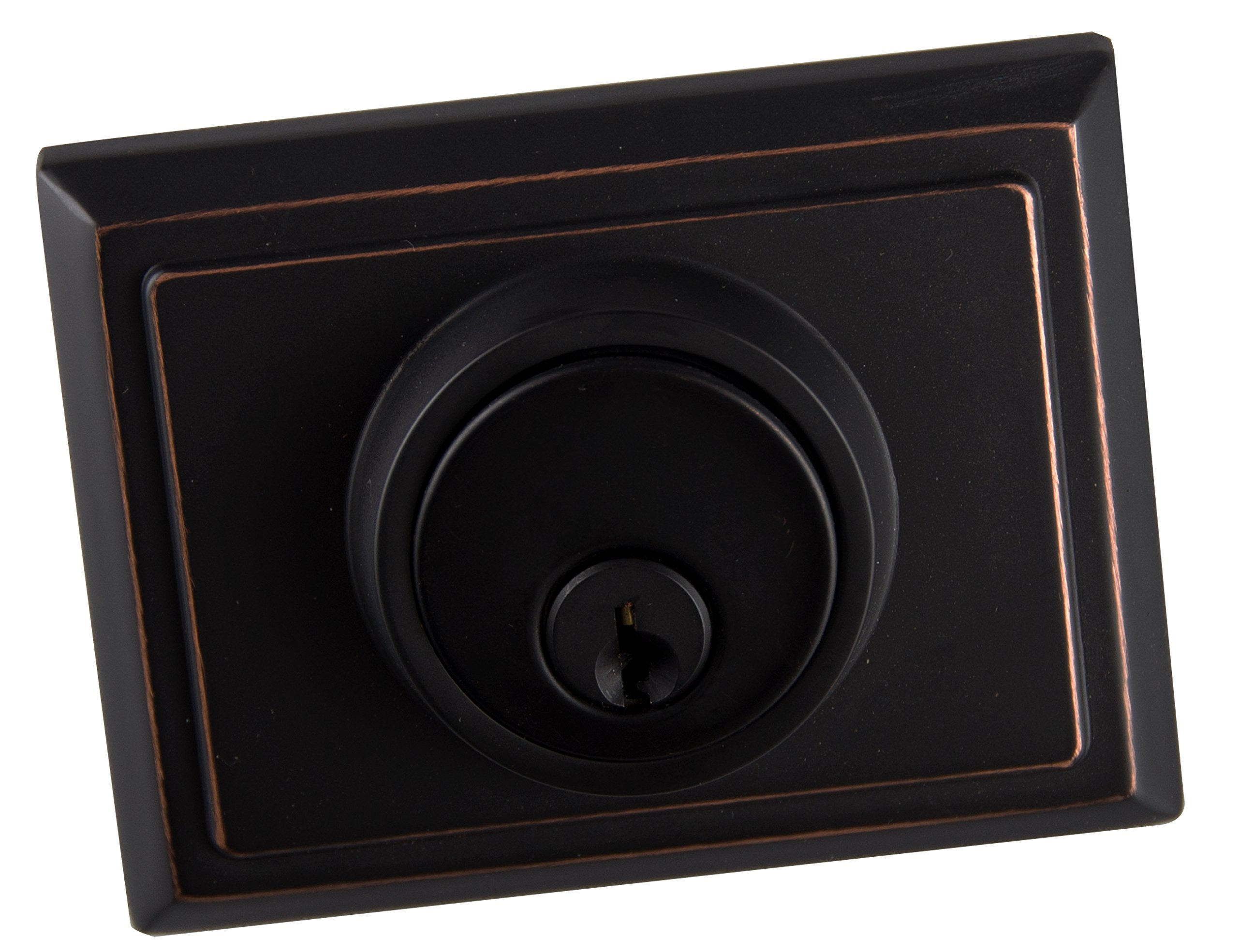Entry Deadbolt and Handle Single Cylinder Handleset with Knob Handle for Back Entrance and Front Door Reversible for Right and Left Handed Oil Rubbed Bronze Finish, MDHST201310B-AMZ-2 by TMC (Image #5)