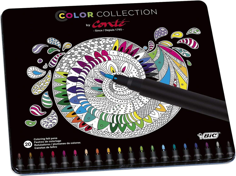 Conté rotuladores – colores Surtidos, Edición Limitada con Estuche Metálico de 20 unidades