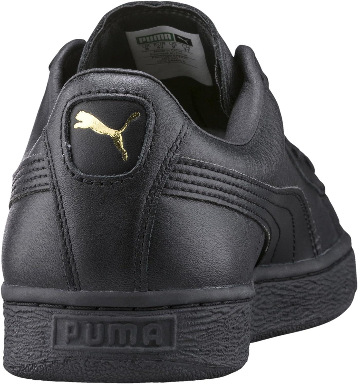 Puma Basket Classic Lfs, Basses Mixte Adulte Noir Black Team Gold