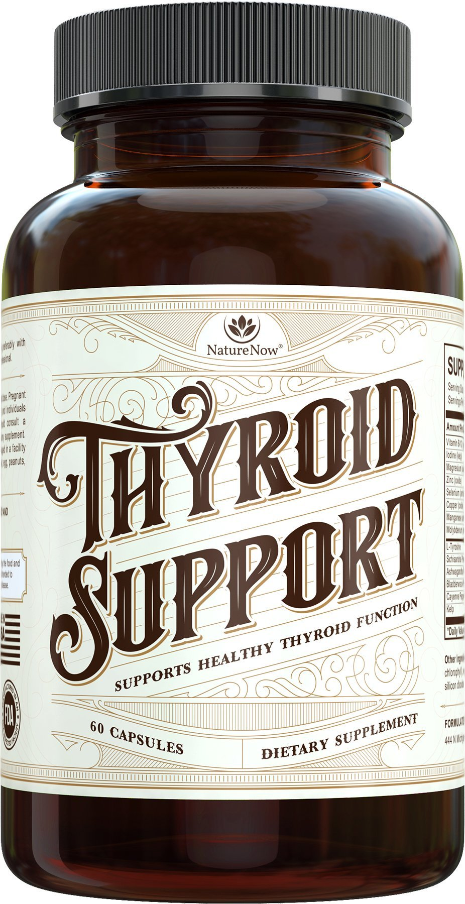 Thyroid Support By NatureNow Is The #1 Best Selling Natural Supplement Made In The USA To Help Men And Women With Overactive Function, Energy, Problems, Disorder, Hyperthyroidism And Hypothyroidism