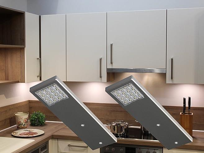 LED Unterbauleuchten 2-er Set / Alu / Lichtfarbe warm weiß / Art ...
