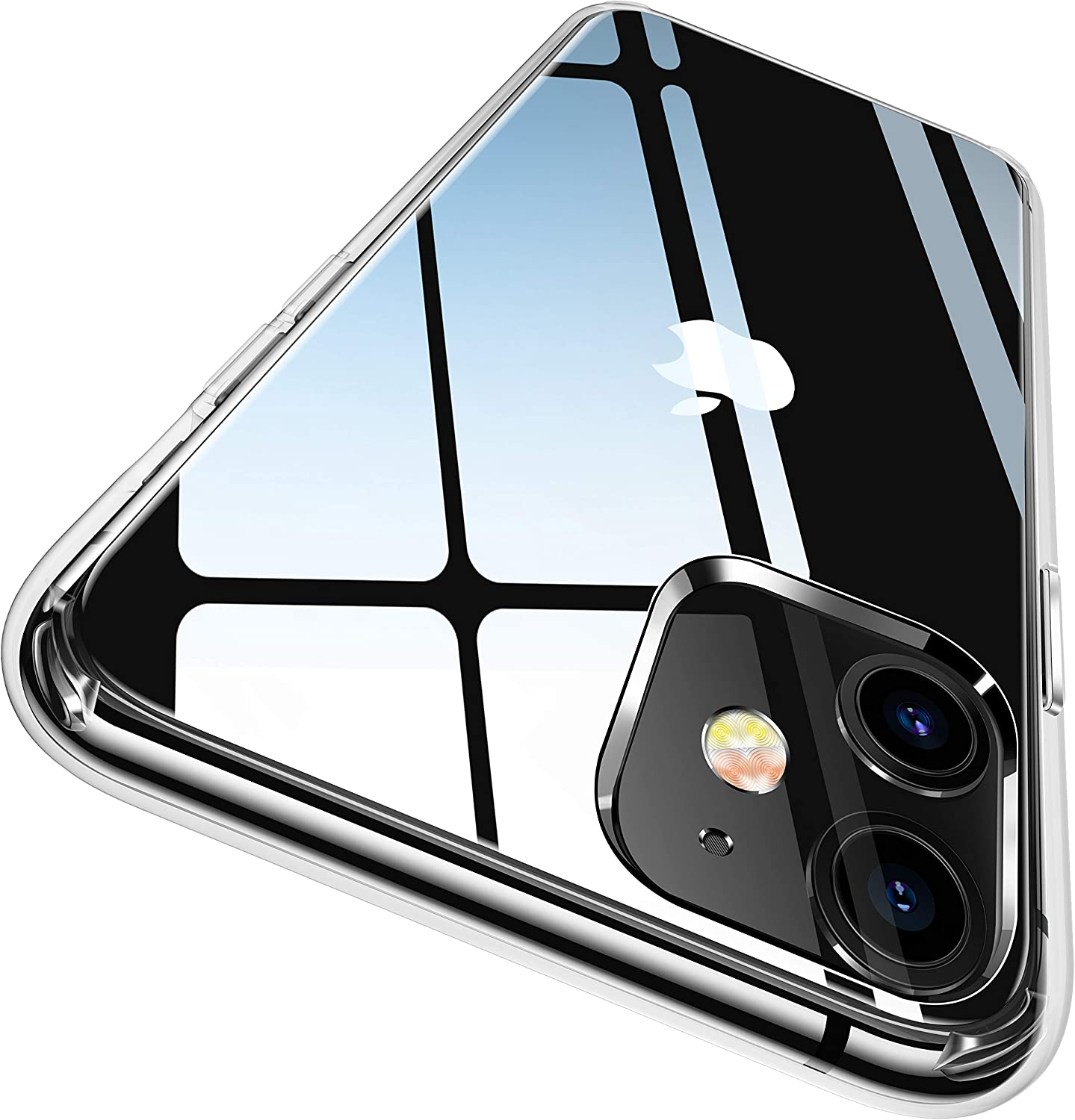CASEKOO Crystal Clear Compatible with iPhone 11 Case, [Anti-Yellowing] Shockproof Protective Super Hybrid Phone Cases Slim Fit Lightweight Cover for iPhone 11 (6.1 inch) 2019 - Crystal Clear