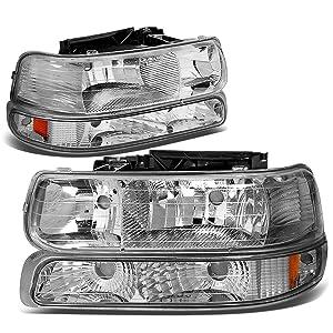 DNA Motoring HL-OH-CS99-4P-CH-AB Headlight (Driver & Passenger Side)
