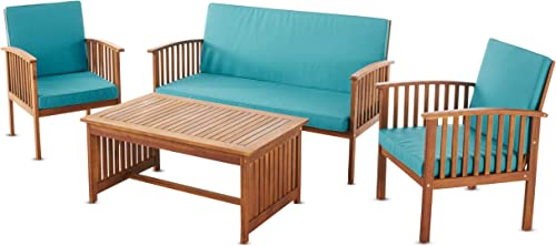 Christopher Knight Home Carolina Outdoor Acacia Wood Sofa Set