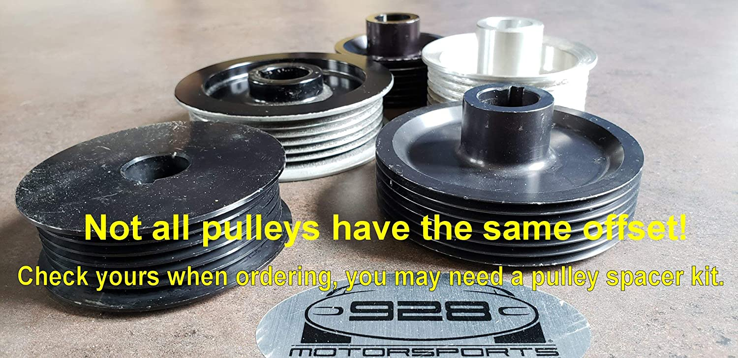 3.60 928 Motorsports 8-Rib Pulleys for ProCharger Superchargers.