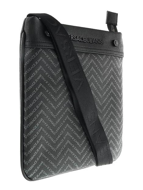b295789319f1 Versace EE1YOBB54 EMAQ Black Grey Mens Messenger Bag  Amazon.ca  Shoes    Handbags
