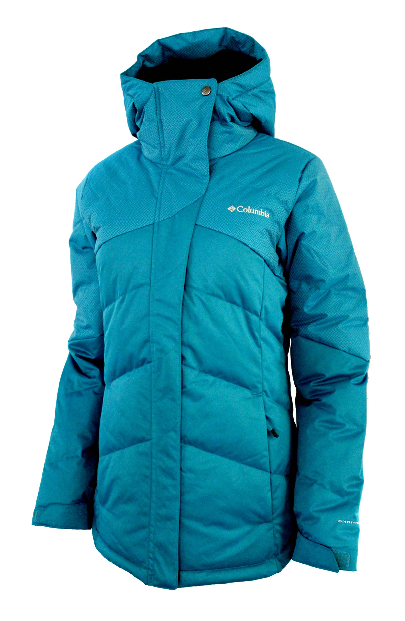 Columbia Women's First Tracks Down Ski Puffer Omni Heat Waterproof Jacket (XL, Deep Marine)