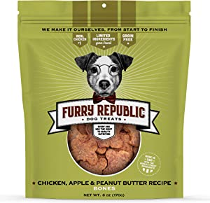 Furry Republic Dog Treats, Soft and Chewy Bones Made in the USA