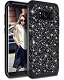 Casetego Compatible with Galaxy S8 Plus Case,Glitter Sparkle Bling Three Layer Heavy Duty Hybrid Sturdy Shockproof…