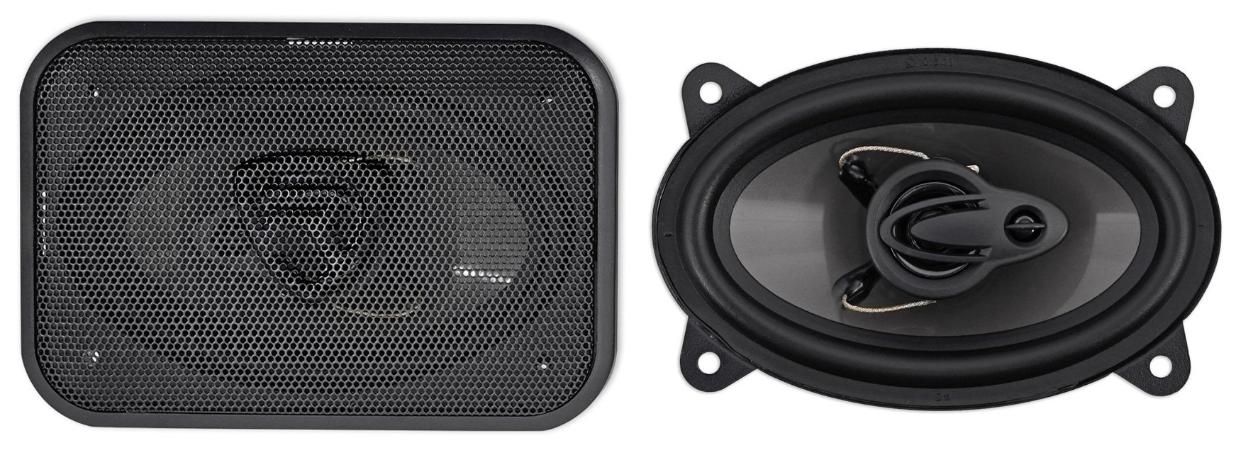 Pair Rockville RV46.3A 4x6'' 3-Way Car Speakers 500 Watts/70 Watts RMS CEA Rated by Rockville (Image #1)