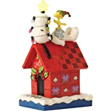 Enesco 4052719 Peanuts by Jim Shore Merry And Bright - Snoopy, Stein, mehrfarbig, 6 x 17 x 13 cm