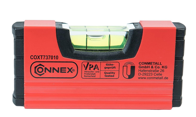 Connex Mini-Wasserwaage 10 cm, magnetisch, COXT737010 Conmetall