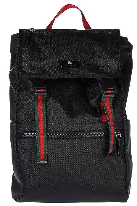 Gucci mochila bolso de hombre en Nylon nuevo negro: Amazon.es: Zapatos y complementos