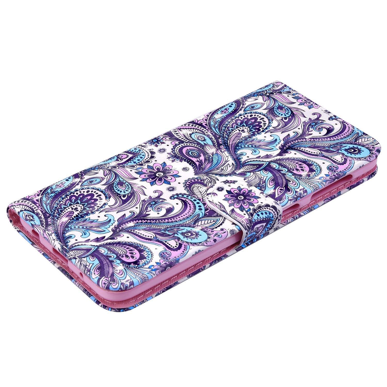 Saceebe Compatibile con Galaxy S8 plus Custodia pelle Cover a libro PU Flip Case Pelle Cover Custodia in pelle verniciata 3D con cordino Portafoglio Custodia Morbido,Colore sfumato