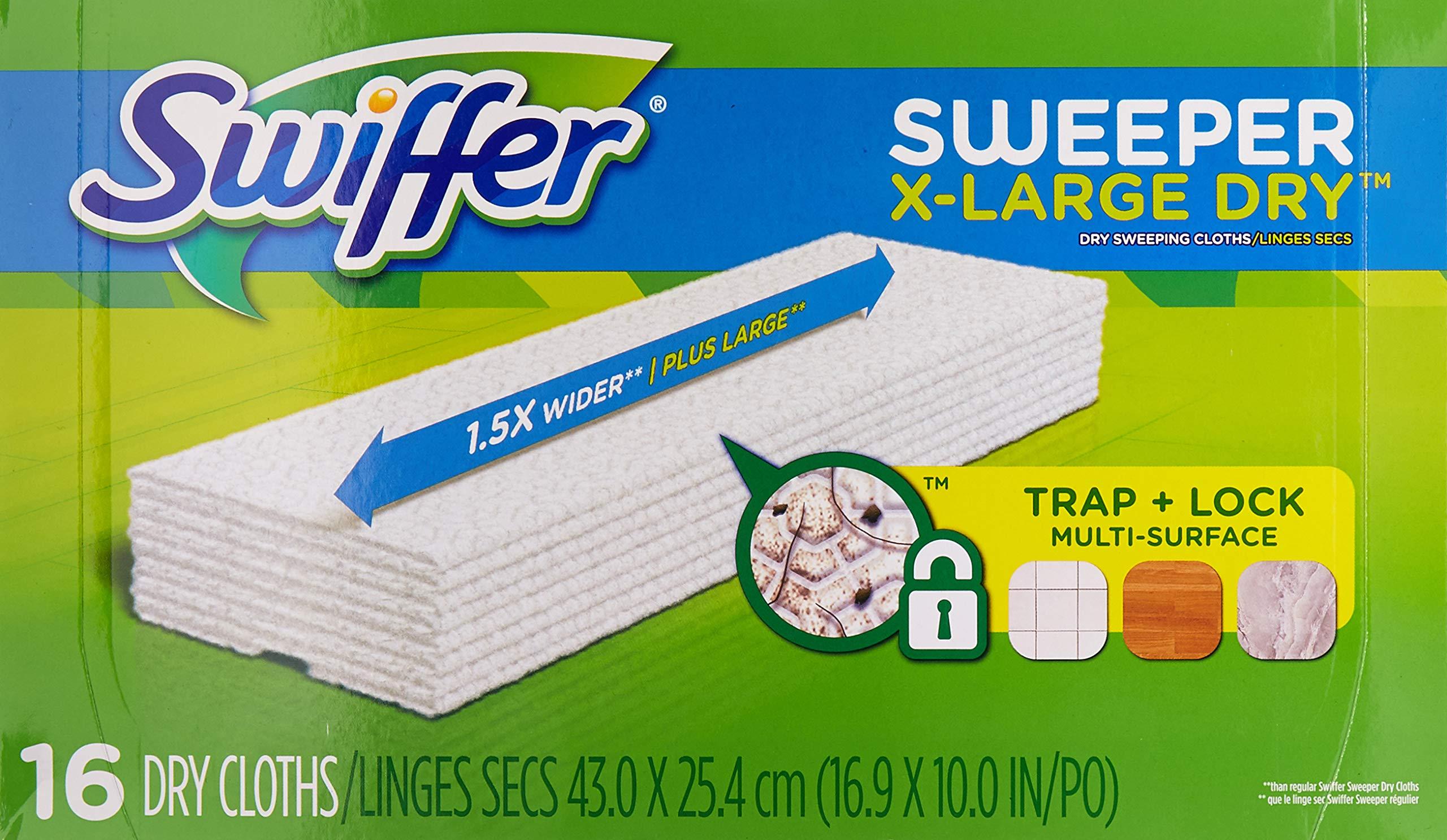 Swiffer Dry Cloth Refill 17.8'' X 10'' Regular 16 Count