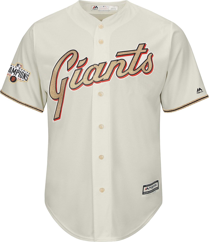 Amazon.com: San Francisco Giants Blank Cream Golden Program Youth ...