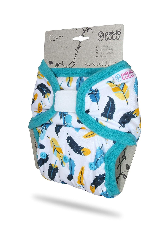 Hook /& Loop Reusable /& Washable 3 Sizes Petit Lulu Diaper Wrap Made in Europe Waterproof Hedgies, XL