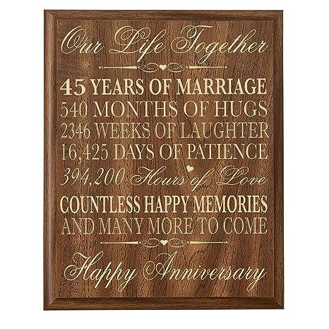 Genitori Anniversario Di Matrimonio Da Parete Regali Per Coppia