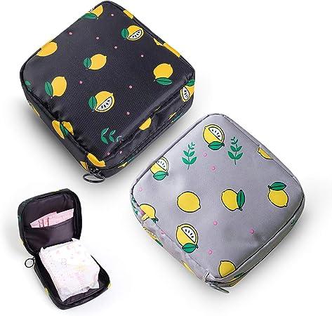 Bolsa de almacenamiento para servilletas sanitarias,bolsa menstrual, portátil para servilletas sanitarias con cremallera para menstruación femenina de ...