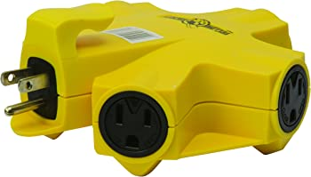 Coleman Cable Yellow Jacket 5-Outlet Power Adapter