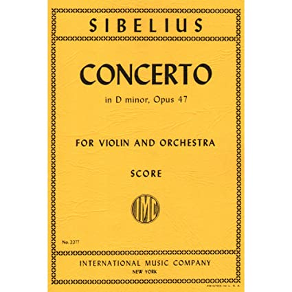 Sibelius Jean Concerto In D Minor Op 47 Study Score Amazon