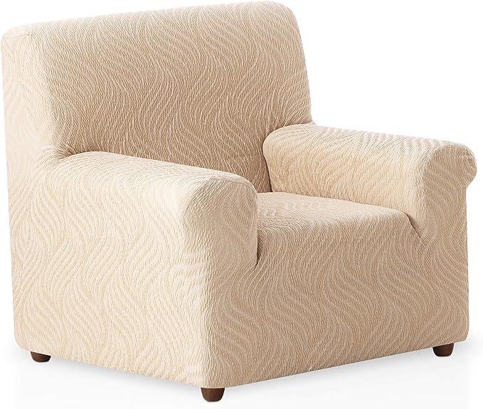 Funda de sofá elástica Aitana - Color Marfil - Tamaño 1 Plaza (de ...