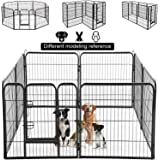 Dog Pen Extra Large Indoor Outdoor Back or Front Yard Fence Cage Fencing Doggie Rabbit Cats Playpens Outside Fences with…