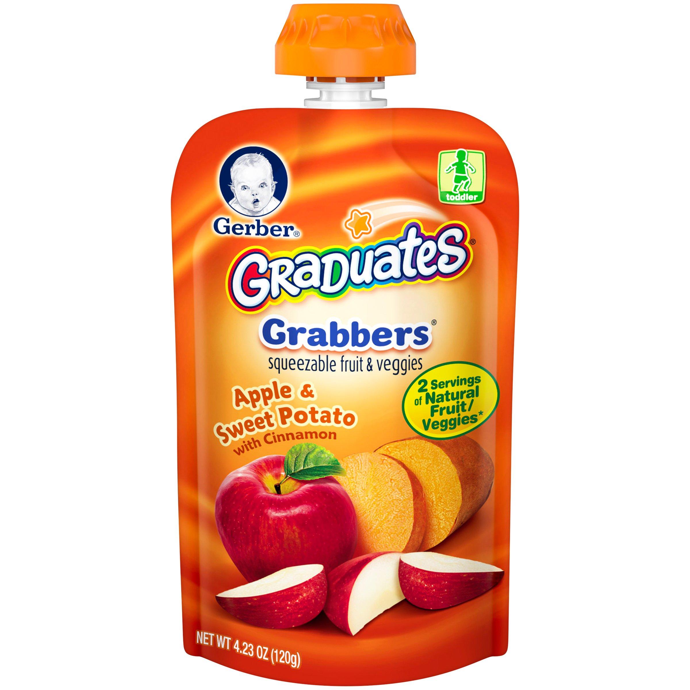 Gerber Graduates Grabbers Pouch, Apple Sweet Potato, 4.23 oz