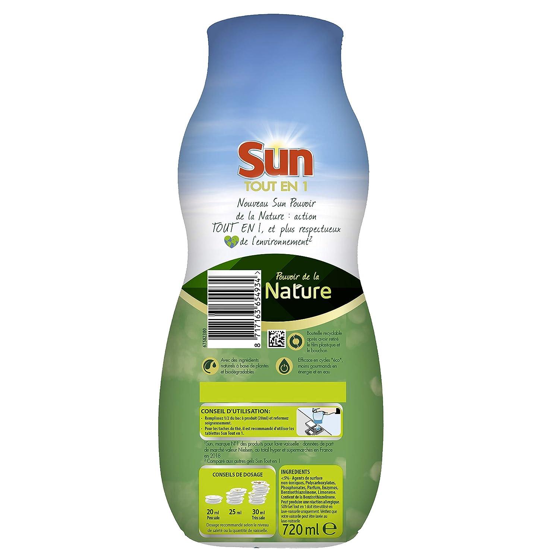 Sun Gel lavavajilla ecológica vinagre 36: Amazon.es: Salud y ...