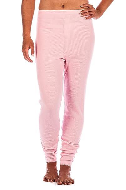 Frío Extremo Pantalón Térmico de Waffle Knit para Mujer - Rosa -XL