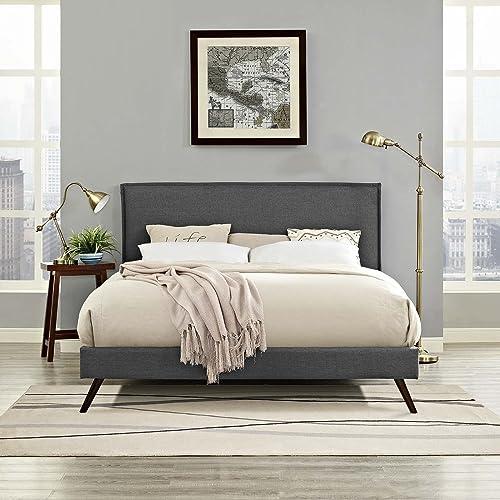 Modway Amaris Upholstered Queen Platform Bed Frame