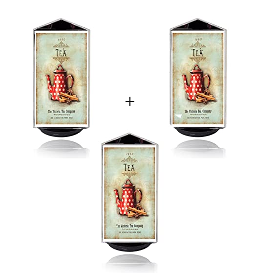 3x 3 seitiger Eleganter Flyerhalter glasklar 3 Seiten je 9,6x18,5cm auf drehbarem Sockel Men/ükartenhalter Werbeaufsteller Tisch Tischaufsteller Prospekthalter Halter Foto B/üro Hotel Empfang