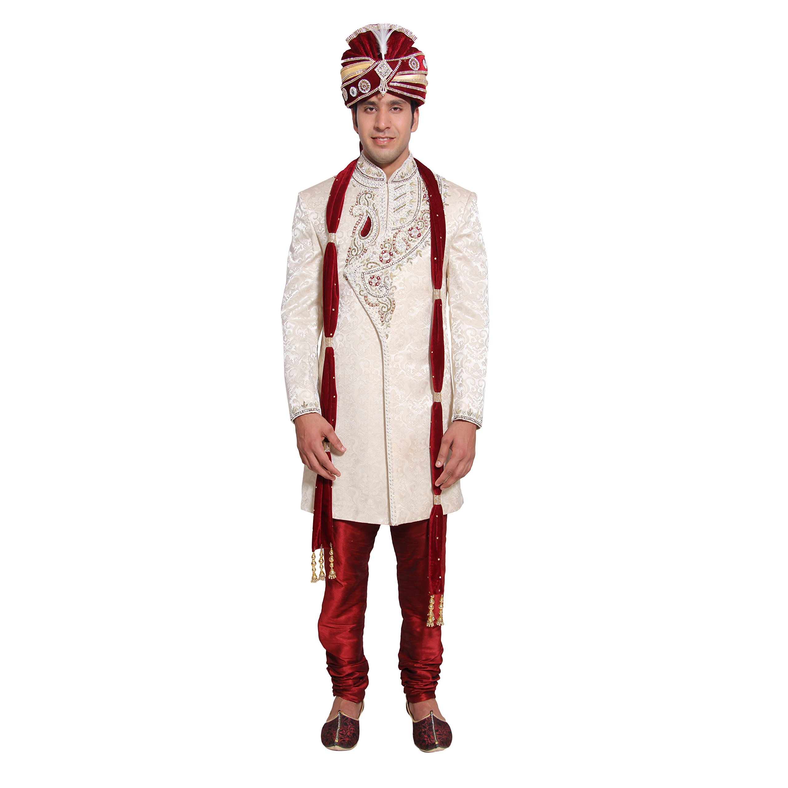 Mens Pathani Indian Kurta Salwar Set for Indian Wedding Party Wear