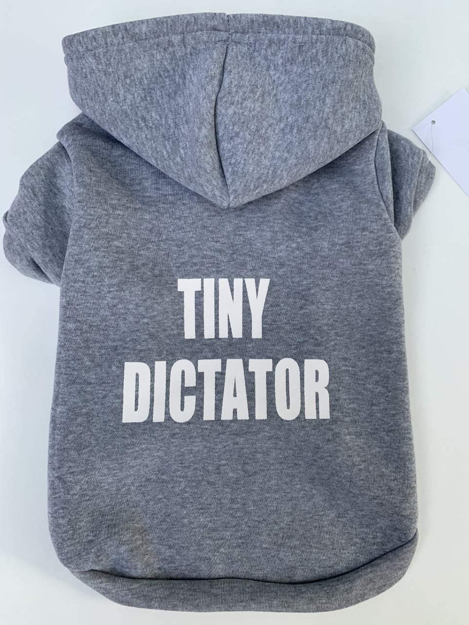 Dog Cat Clothing Hoodie Pet Tiny Dictator Grey XS