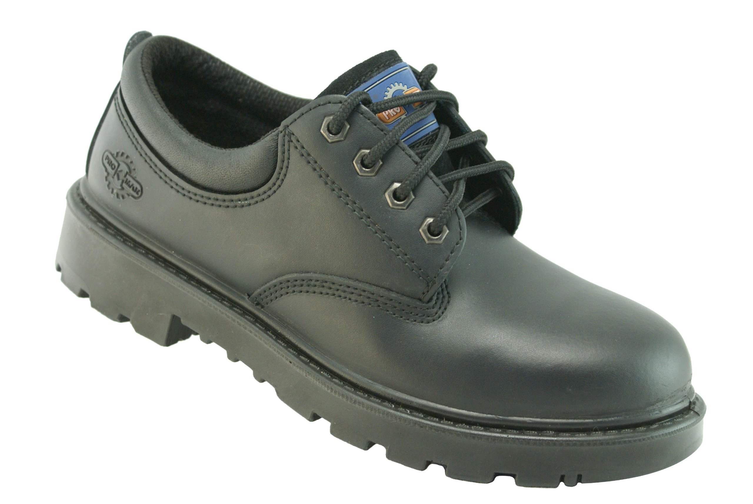 Pro-Man Men's S3 Leather Steel Toe Cap Safety & Work Shoes US Size 13 Black
