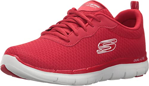 Skechers Damen Flex Appeal 2.0 NEWSMAKER Sneaker, rot, 37 EU 7sNaT