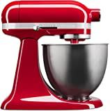 KitchenAid KSM3311XER Artisan Mini Series Tilt-Head Stand Mixer, 3.5 quart, Empire Red