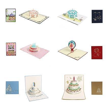 Paquete de 6 tarjetas de felicitación para cumpleaños ...